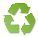 Green recycling sign