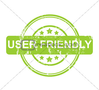 Green user friendly stamp with stars