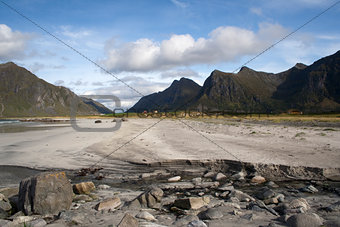Flakstad Beach on the Lofoten Islands, Norway
