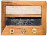 Vintage radio Cutout