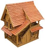 Wooden Chalet Cutout