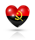 Love Angola, heart flag icon
