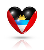 Love Antigua and Barbuda, heart flag icon