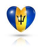 Love Barbados, heart flag icon