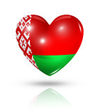 Love Belarus, heart flag icon