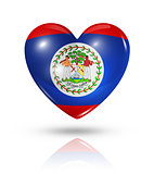 Love Belize, heart flag icon