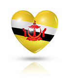Love Brunei, heart flag icon