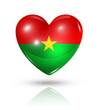Love Burkina Faso, heart flag icon