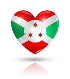 Love Burundi, heart flag icon