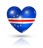 Love Cape Verde, heart flag icon