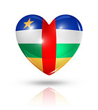 Love Central African Republic, heart flag icon