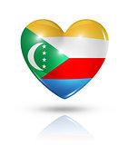 Love Comoros, heart flag icon