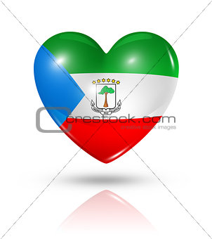Love Equatorial Guinea, heart flag icon