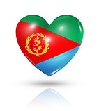 Love Eritrea, heart flag icon