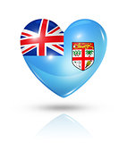 Love Fiji, heart flag icon