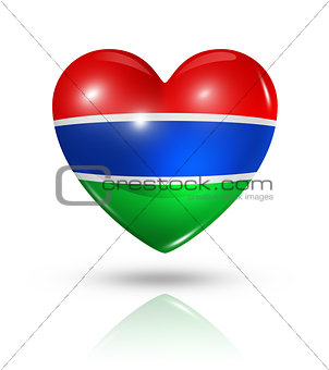 Love Gambia, heart flag icon