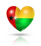 Love Guinea Bissau, heart flag icon