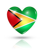 Love Guyana, heart flag icon