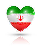 Love Iran, heart flag icon