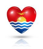 Love Kiribati, heart flag icon