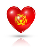 Love Kyrgyzstan, heart flag icon