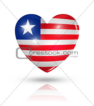 Love Liberia, heart flag icon