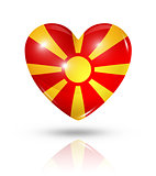 Love Macedonia, heart flag icon