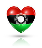 Love Malawi, heart flag icon