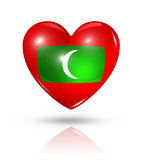 Love Maldives, heart flag icon