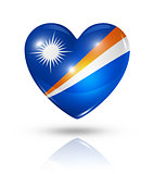 Love Marshall Islands, heart flag icon