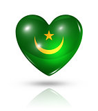 Love Mauritania, heart flag icon