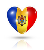 Love Moldova, heart flag icon