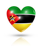 Love Mozambique, heart flag icon