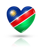 Love Namibia, heart flag icon