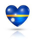 Love Nauru, heart flag icon