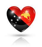 Love Papua New Guinea, heart flag icon