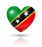 Love Saint Kitts And Nevis, heart flag icon