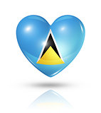 Love Saint Lucia, heart flag icon