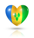 Love Saint Vincent and the Grenadines, heart flag icon