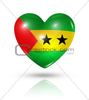 Love Sao Tome and Principe, heart flag icon