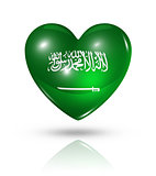 Love Saudi Arabia, heart flag icon