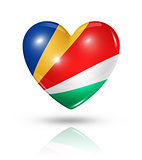 Love Seychelles, heart flag icon
