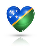 Love Solomon Islands, heart flag icon