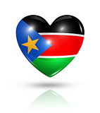 Love South Sudan, heart flag icon