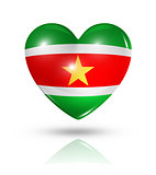 Love Suriname, heart flag icon