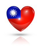 Love Taiwan, heart flag icon