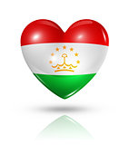 Love Tajikistan, heart flag icon