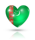 Love Turkmenistan, heart flag icon