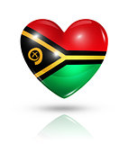 Love Vanuatu, heart flag icon