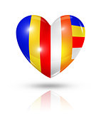 Love buddhism, heart flag icon